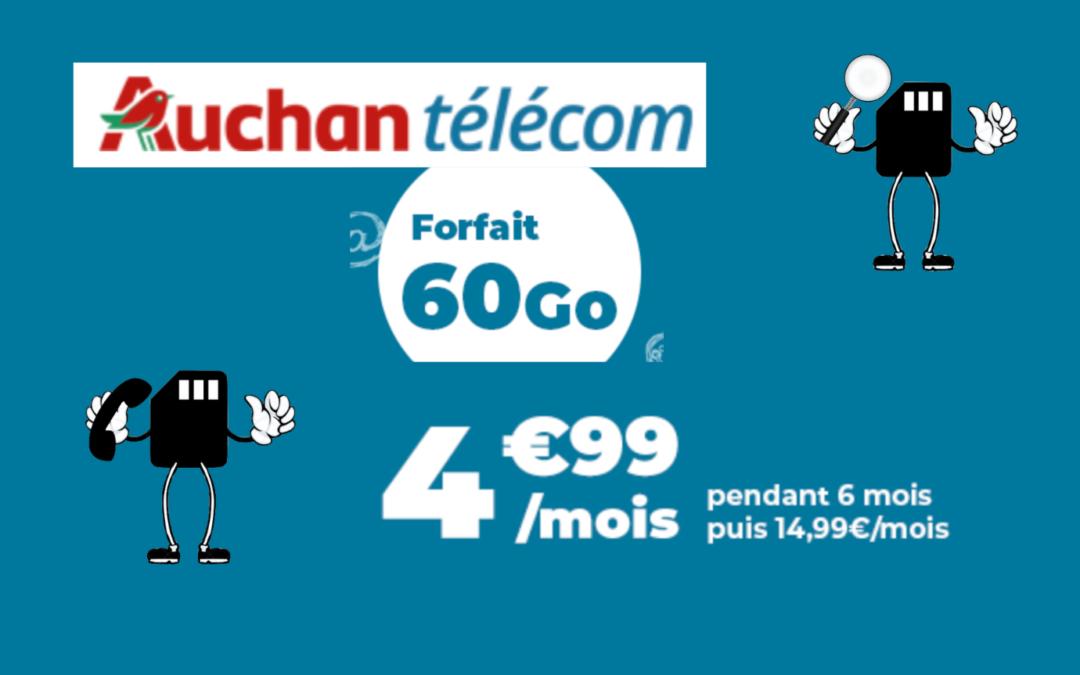 Forfait auchan télécom 60 go en promotion
