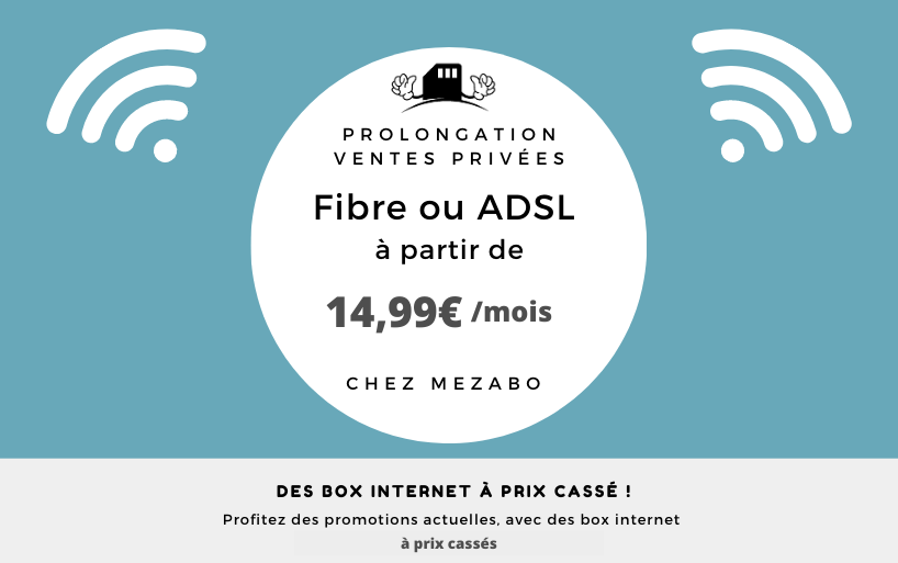 Vente privée box internet : présentation de 5 box à moins de 16€