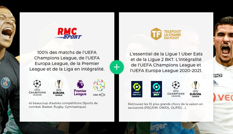 Abonnement RMC Sport et Téléfoot