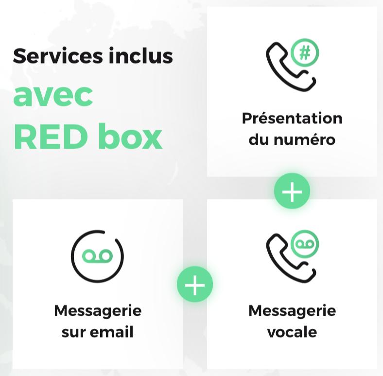 Les services inclus dans l'offre fibre de RED
