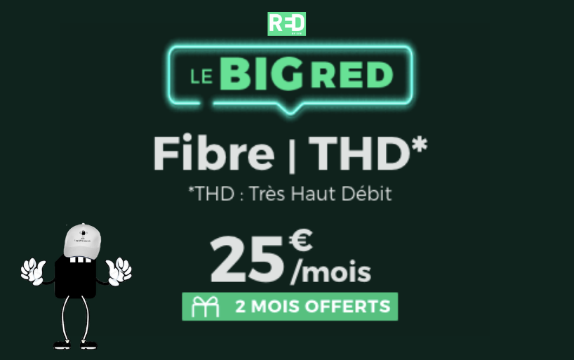 Offre box internet red by SFR à 25€ par mois