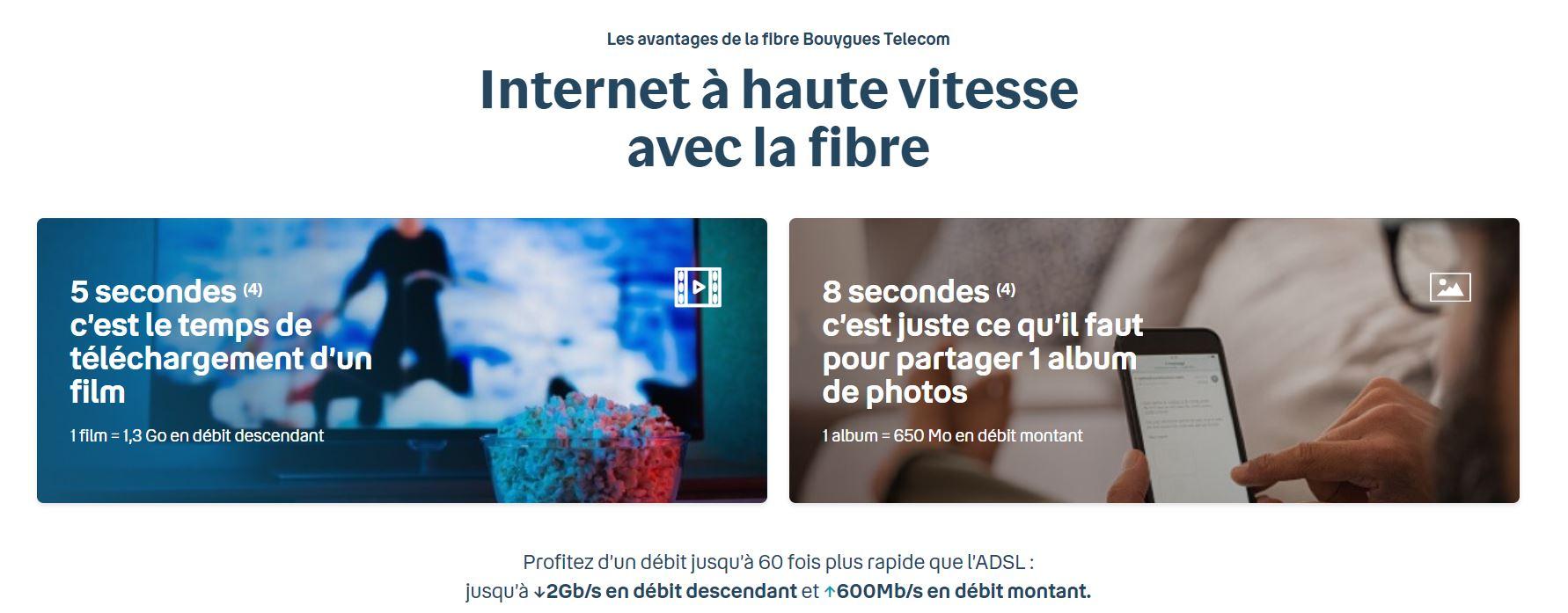 Les avantages de la fibre Bouygues Telecom