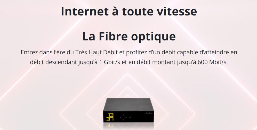 vitesse de la fibre avec la freebox mini 4K