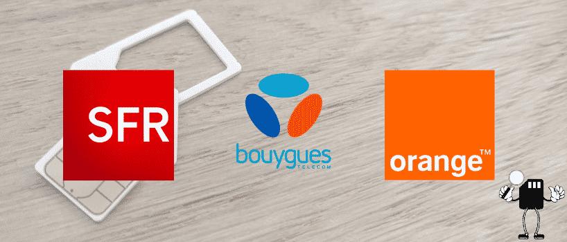 Les trois opérateurs classiques SFR, Bouygues et Orange