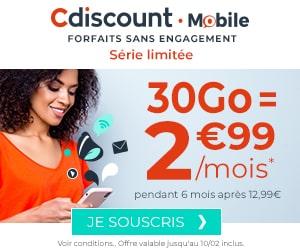 forfait cdiscount 30 go