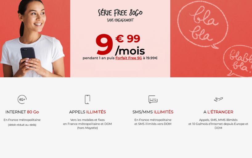 Le forfait pas cher Free à 9,99€ par mois passe à 90 Go de data en 4G