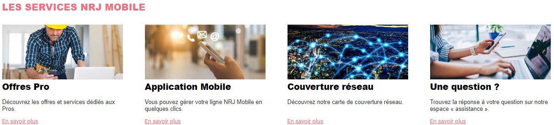 Les services NRJ Mobile