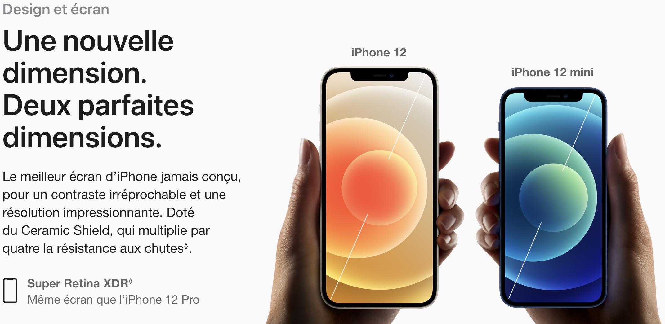 écran de l'iphone 12