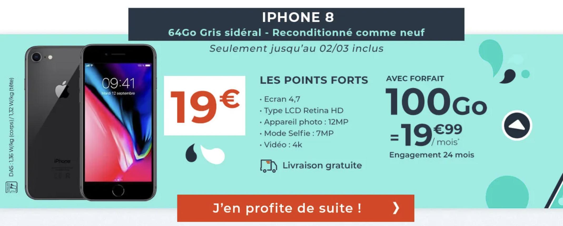 détails de la promo iPhone 8