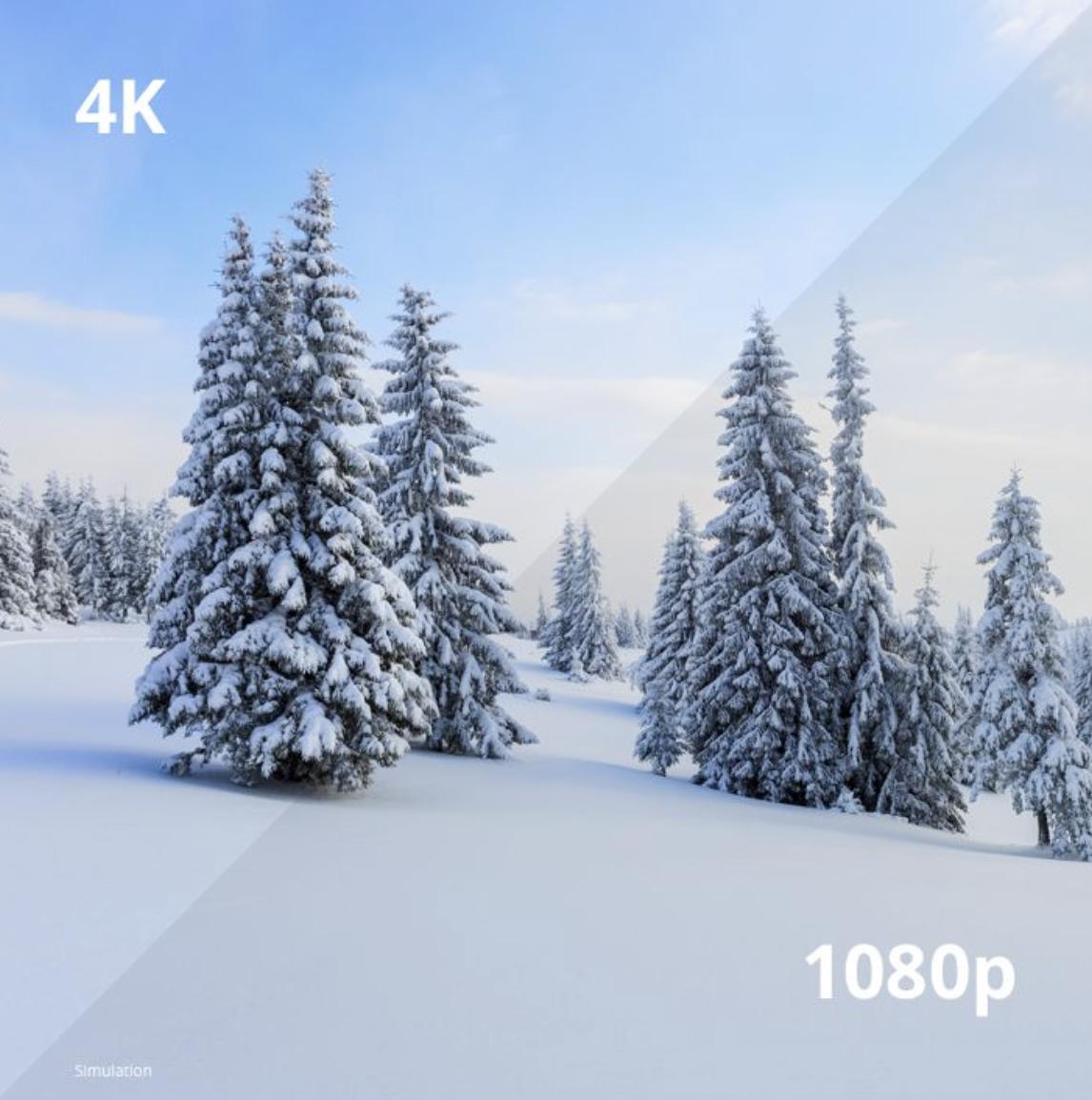 Image comparative entre la 4K et 1080p