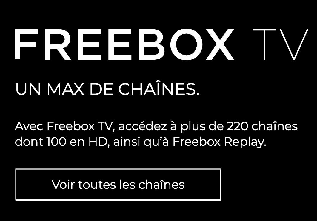 Les chaînes de télévision de la Freebox Révolution