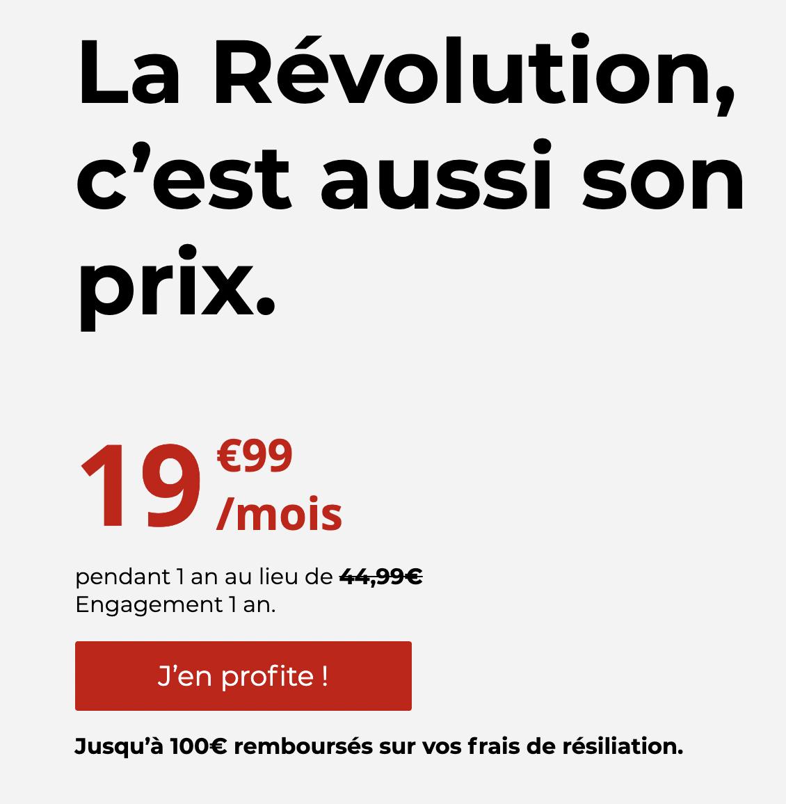 Le prix de la vente privée Freebox Révolution