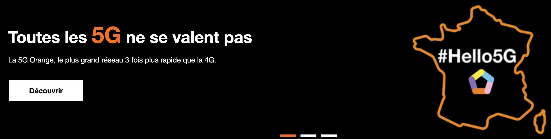 le réseau 5G d'orange