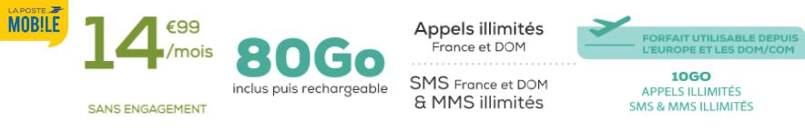 abonnement la poste mobile 80 Go