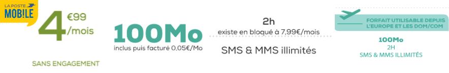 Forfait la poste mobile 100 Mo