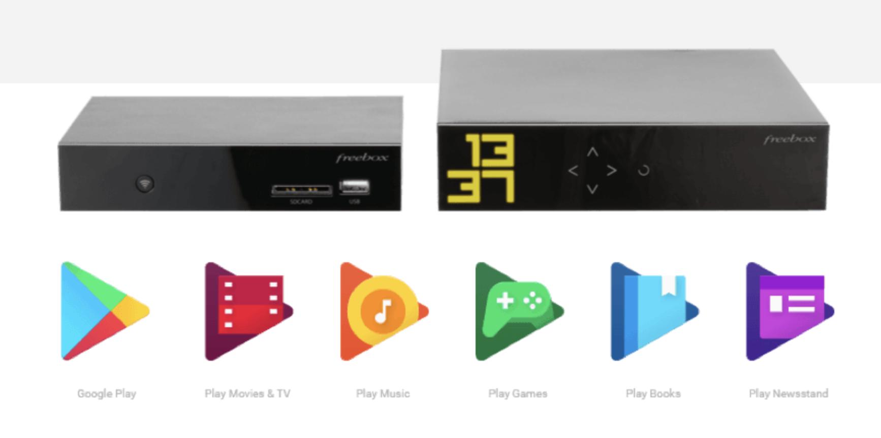 Les applications Android TV de la Freebox Mini 4K