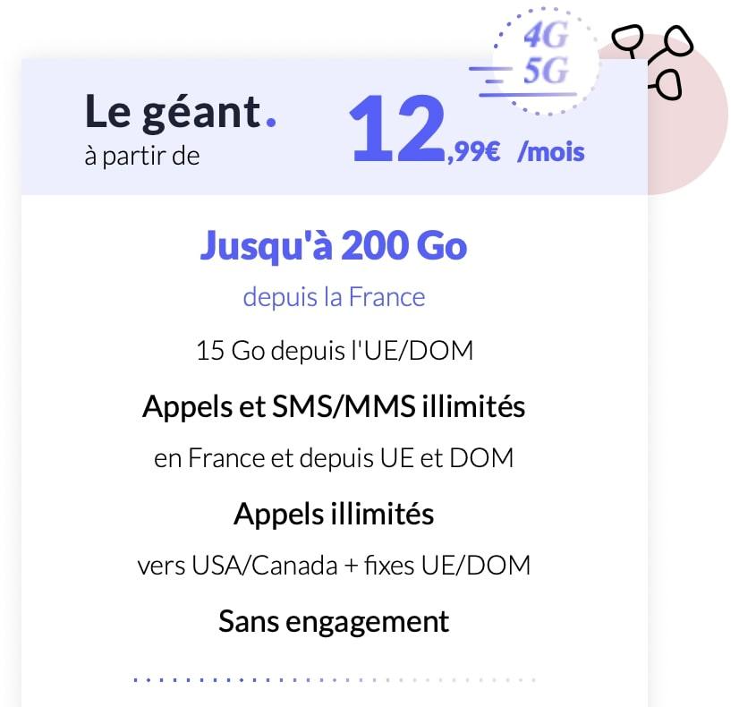 détails du forfait 100 Go Prixtel