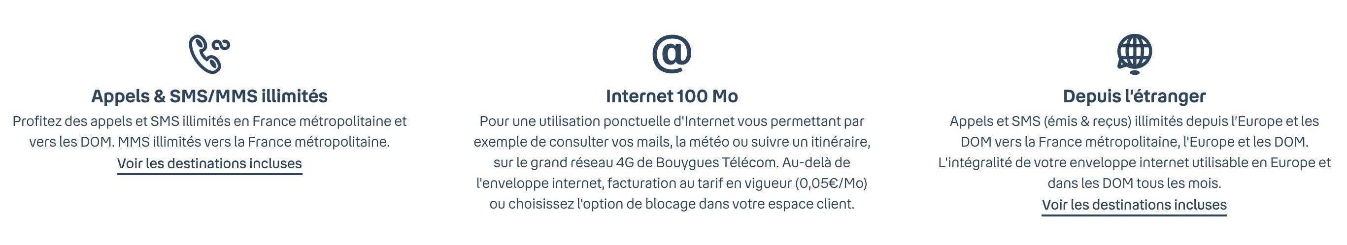 Le forfait 100 Mo sensation de Bouygues en détail
