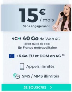 Forfait sans engagement Cdiscount à 15€