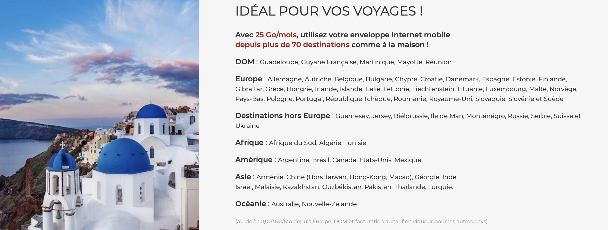 Les avantages du forfait mobile pas cher Free à 19,99 euros par mois pour le voyage