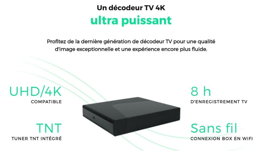 le décodeur Tv de la box pas chère de RED