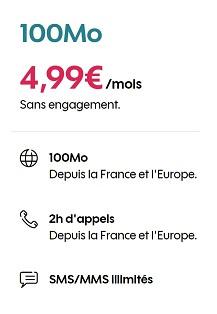 Forfait Sosh 100 Mo sans engagement à 4,99€