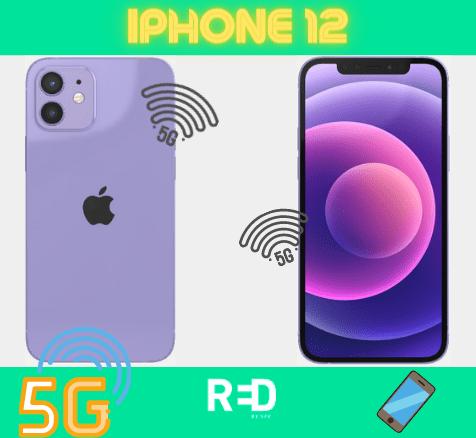 Illustration de l'iPhone 12 compatible avec le forfait 5G RED by SFR
