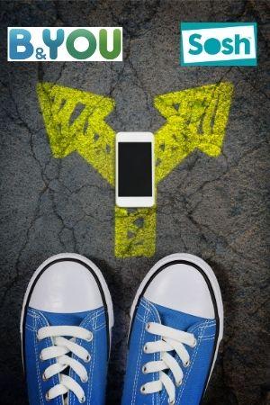 Choix smartphone entre sosh et b&you