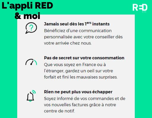 Description de l'application RED & moi