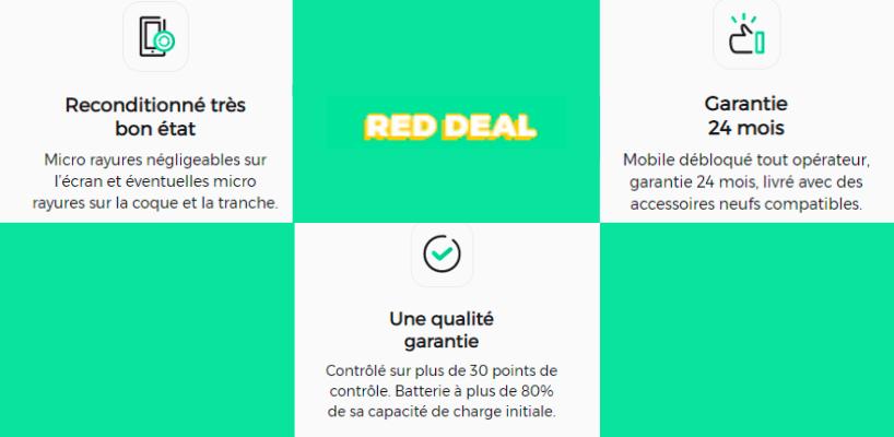 Détail sur la garantie de l'iPhone 8 reconditionné de l'offre RED DEAL