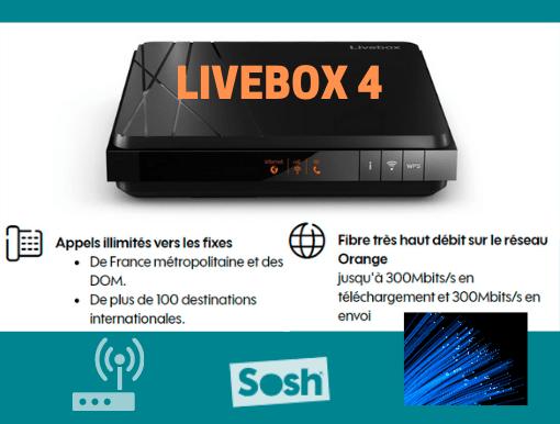 Descriptif de la box internet pas cher Sosh : Livebox 4