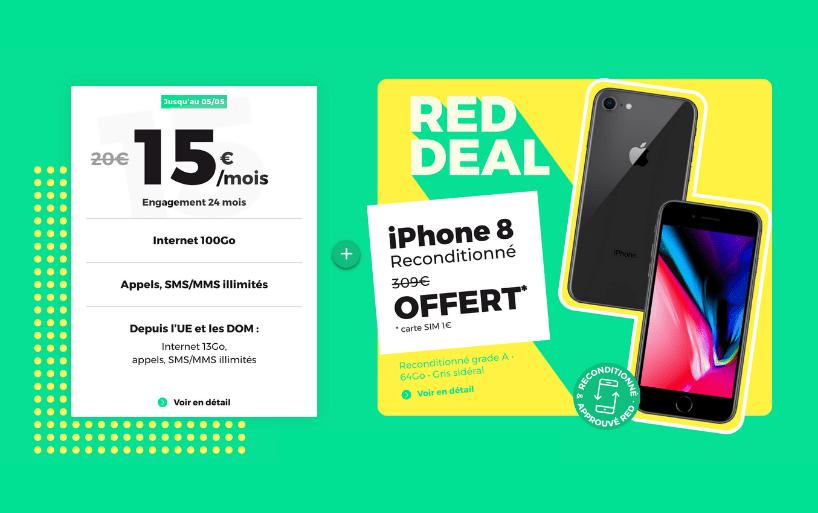 RED DEAL : le forfait 100 Go avec un iPhone 8 offert !