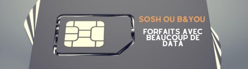Sosh ou B and You pour les forfaits avec beaucoup de data