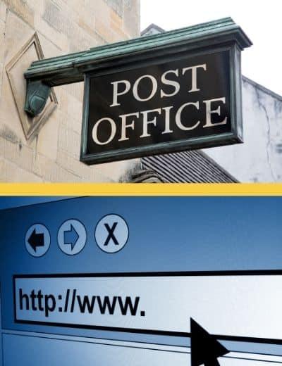 Bureau de poste ou internet