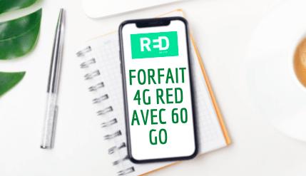 Image pour illustrer le forfait 4G RED avec 60 Go