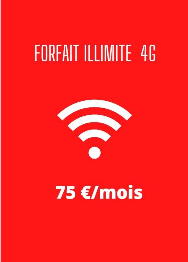 forfait 4G illimité SFR