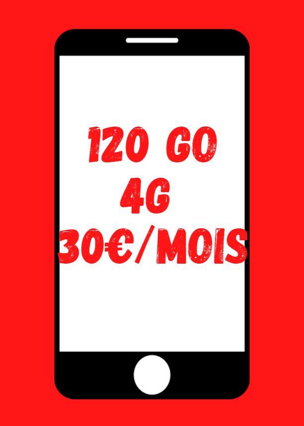 forfait 120 Go 4G SFR