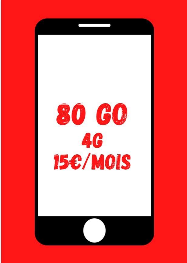 Forfait 80 GO 4G Illimité SFR