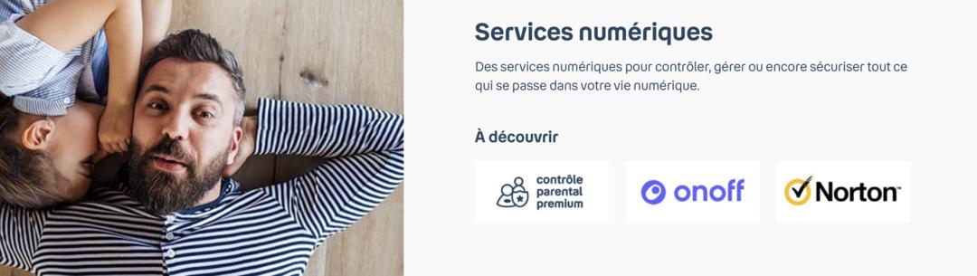 Les options liées aux services numériques de Bouygues
