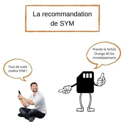 illustration la recommandation de sym