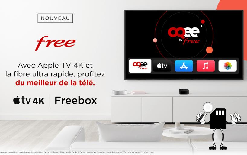Les abonnés Freebox peuvent choisir l'Apple TV 4K comme décodeur TV