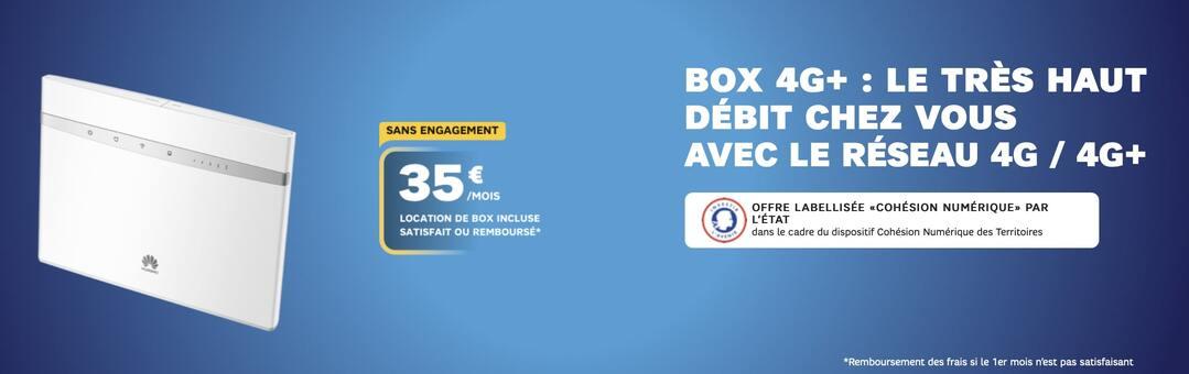 la box internet sans engagagement SFR 4G