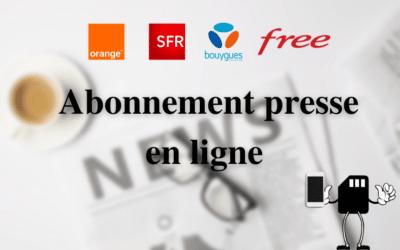 Abonnement presse en ligne : Les journaux et magazines en illimité