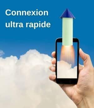 Connexion rapide smartphone avec fusée