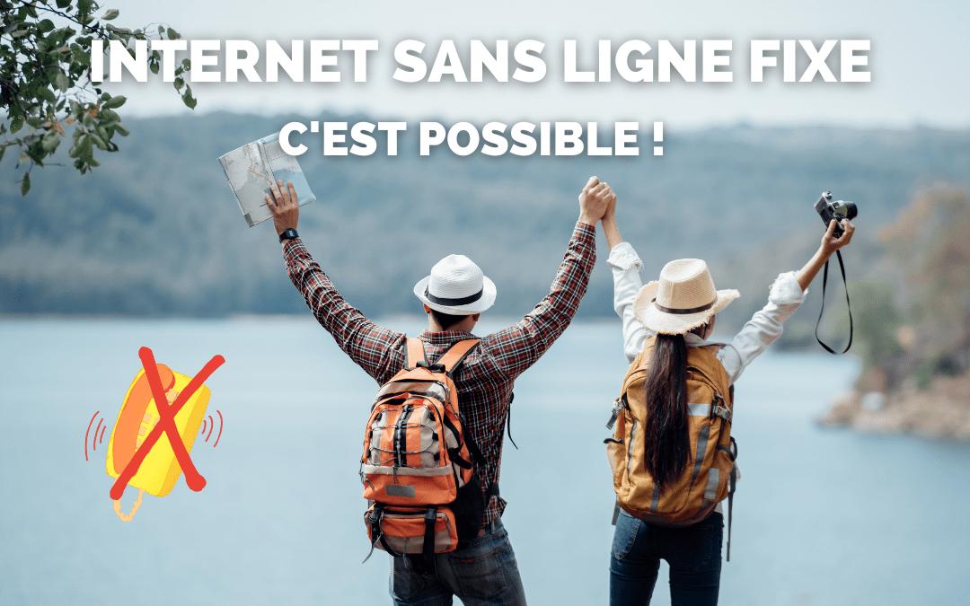 Un couple de voyageur qui profite d'Internet sans ligne fixe