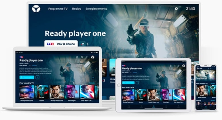 L'applivation B.tv de l'offre box internet Bouygues